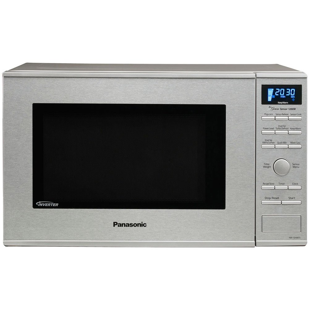 Panasonic NN-SD681S Stainless 1200W 1.2 Cu. Ft. Countertop/Built-in Microwave with Inverter Technology