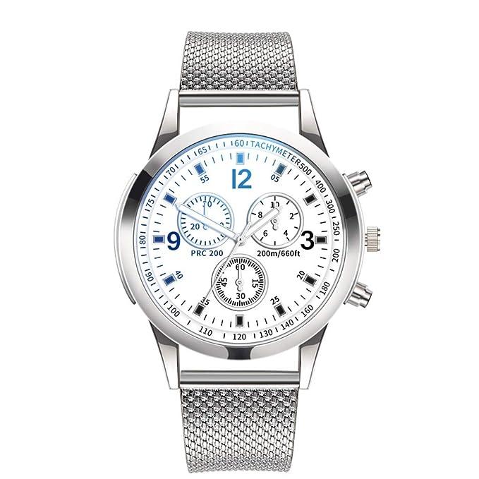 BBestseller Relojes Hombre Deportivos,Correa de Malla de Moda Reloj Relojes clásicos Inoxidable Impermeable Watch