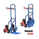 tinkertonk Heavy Duty Stair Climber Barrow Dolly Hand Trucks, with Max Load of 200kg