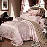 European style 100% cotton flower pattern Duvet Cover Set 4 Pieces(1Duvet Covers 1Flat sheets 2Pillowcases)-D Queen , 12