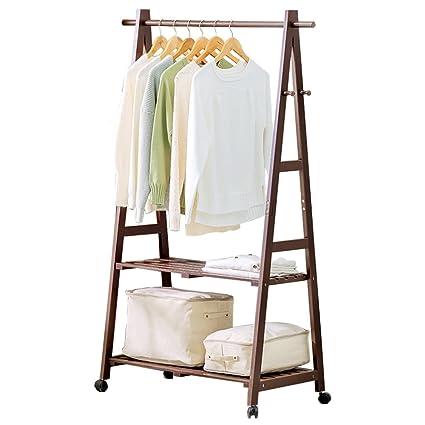 RKY Perchero Perchero de madera, Base de ropa de bambú de ...