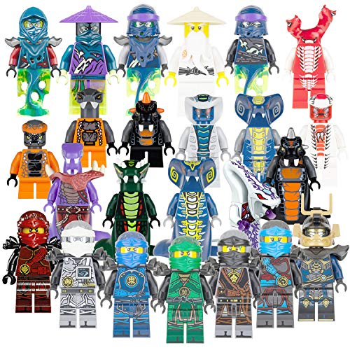 GOOTY Ninjago Building Blocks Toys Minifigures with Accessories for Kids Set 24Pcs (Multi)
