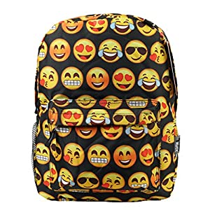 e5fcf08f6b Black Emoji Backpack w  Happy Emojis (Girl Boy)