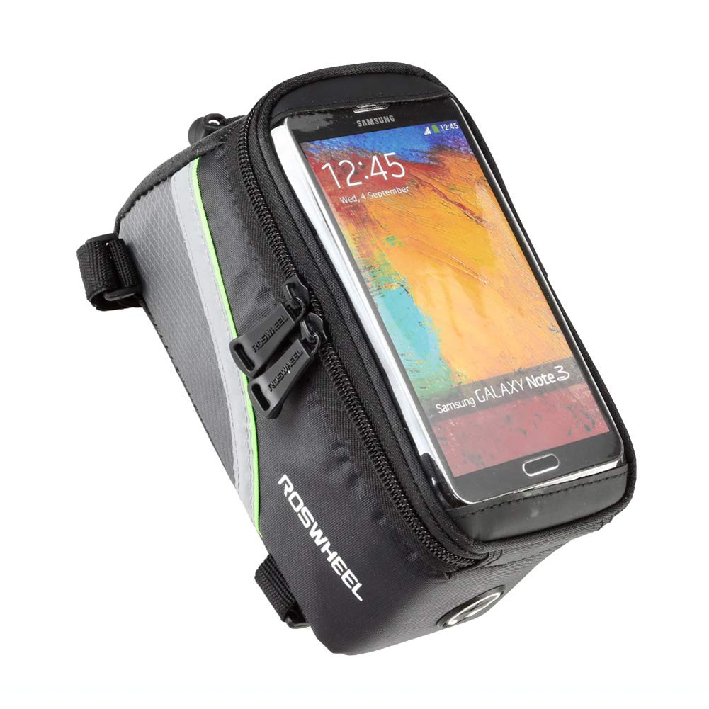 - Blue ROSWHEEL Bicycle Mobile Phone Pouch for 5.5inch Phone 5.5 inch Touch Screen Top Frame Tube Storage Bag Cycling MTB Road Bike Basket Bicycle Accessories Phone Case 12496