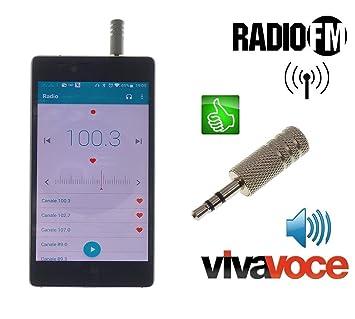 Metal antjack Antena Radio FM simula auricular Viva Voz para Smartphone Móviles Jack 3,5 mm Metal cromado: Amazon.es: Electrónica