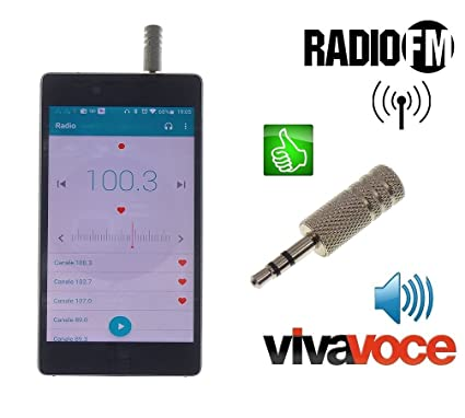 Metal antjack Antena Radio FM simula auricular Viva Voz para Smartphone Móviles Jack 3,5