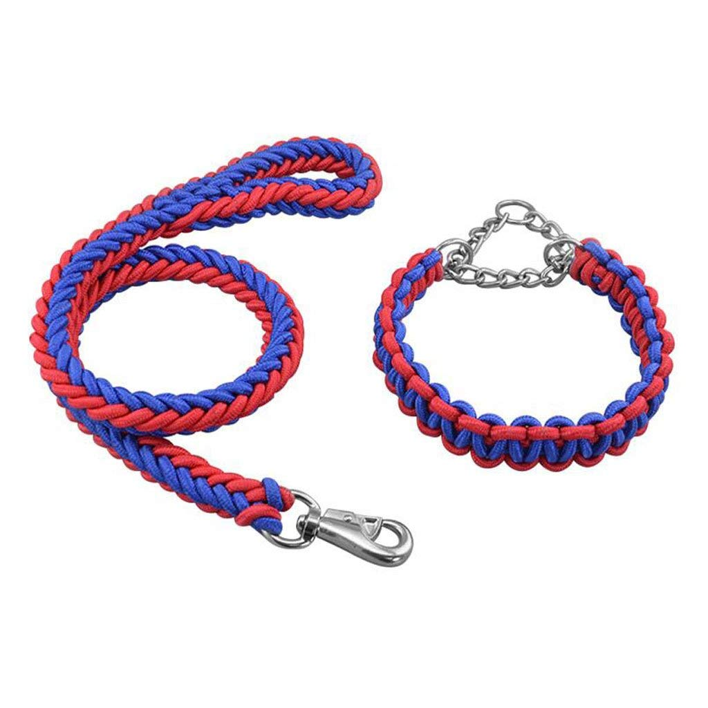 Durable Rope Twist Lead Pets Lead for Dogs Dog Leash Pet Chain Nylon Weave Outdoor Running Training Fashion Soft Comfortable Durable Multi Color Optional (A/B/C/D/E) (Color : D, Size : M) by Siweike