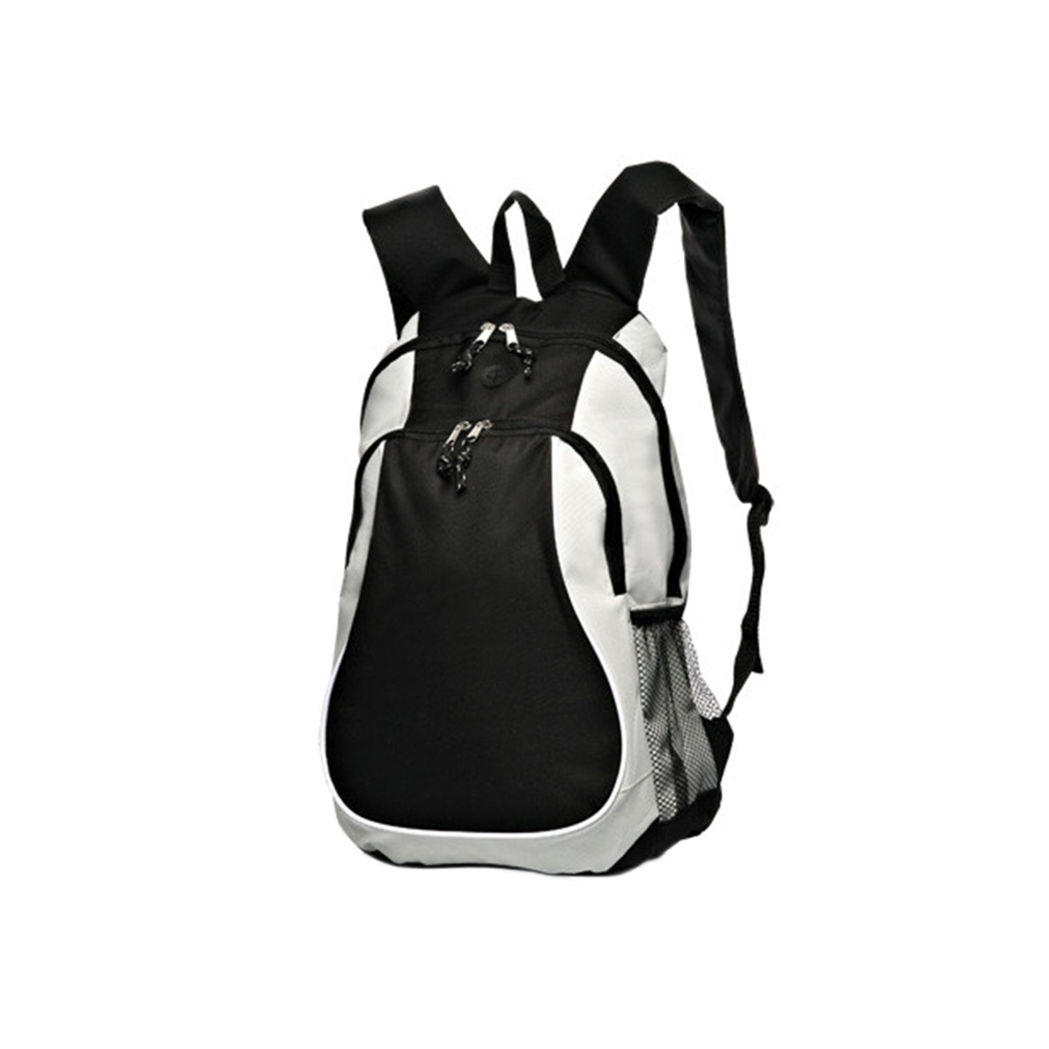 Backpack, Large Sports, 2-Tone, black & Grey free shipping