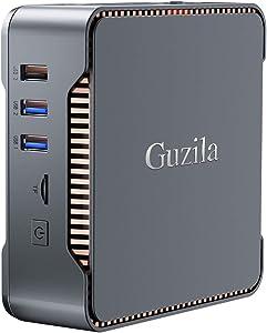 GUZILA Mini PC,Intel Celeron J4125 Processor(up to 2.7GHz) Windows 10 Pro Mini Desktop Computer with 6GB DDR4/120GB ROM,Support Triple Display,Gigabit Ethernet,Dual Band Wi-Fi,Bluetooth 4.2,4K HD