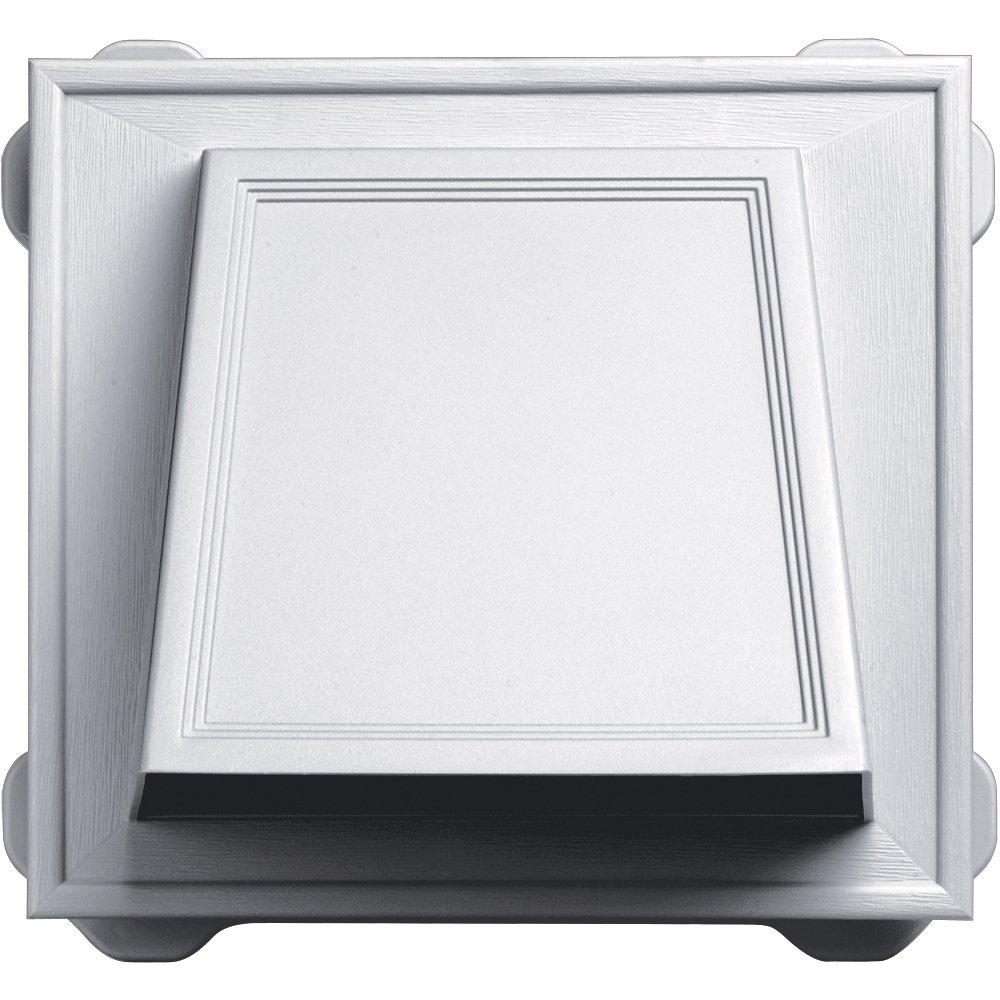 Builders Edge 140056774001 6'' Hooded Vent 001, White