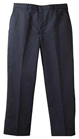 dbe869038a7 Image Unavailable. Image not available for. Color  Edwards Garment Men s  Business Casual Flat Front Brass Zipper Pant