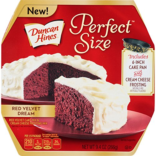 Duncan Hines Perfect Size Cake Mix, Red Velvet Dream, 9.4 Ounce Duncan Hines Cookie Mix