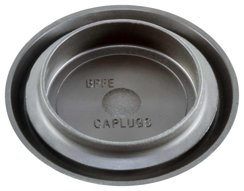 Pack of 1000 Caplugs QBPFE-21MMQ2 Ergonomic Button Plug with Flush Type Heads Hole Size .807-.866 BPFE-21MM Metal Thickness .031-.079 Hole Size .807-.866 Metal Thickness .031-.079 Caplugs Inc. Black Plastic