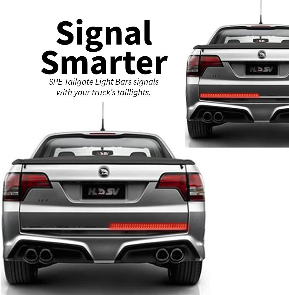 2019 VERSION Red//White Reverse Brake Stop Turn Signal Parking Running Driving Light for SUV RV Trailer Work Pickup IP68 Silcone-Filled HD-Double Row LED Truck Tailgate Light Bar Strip 49-Inch