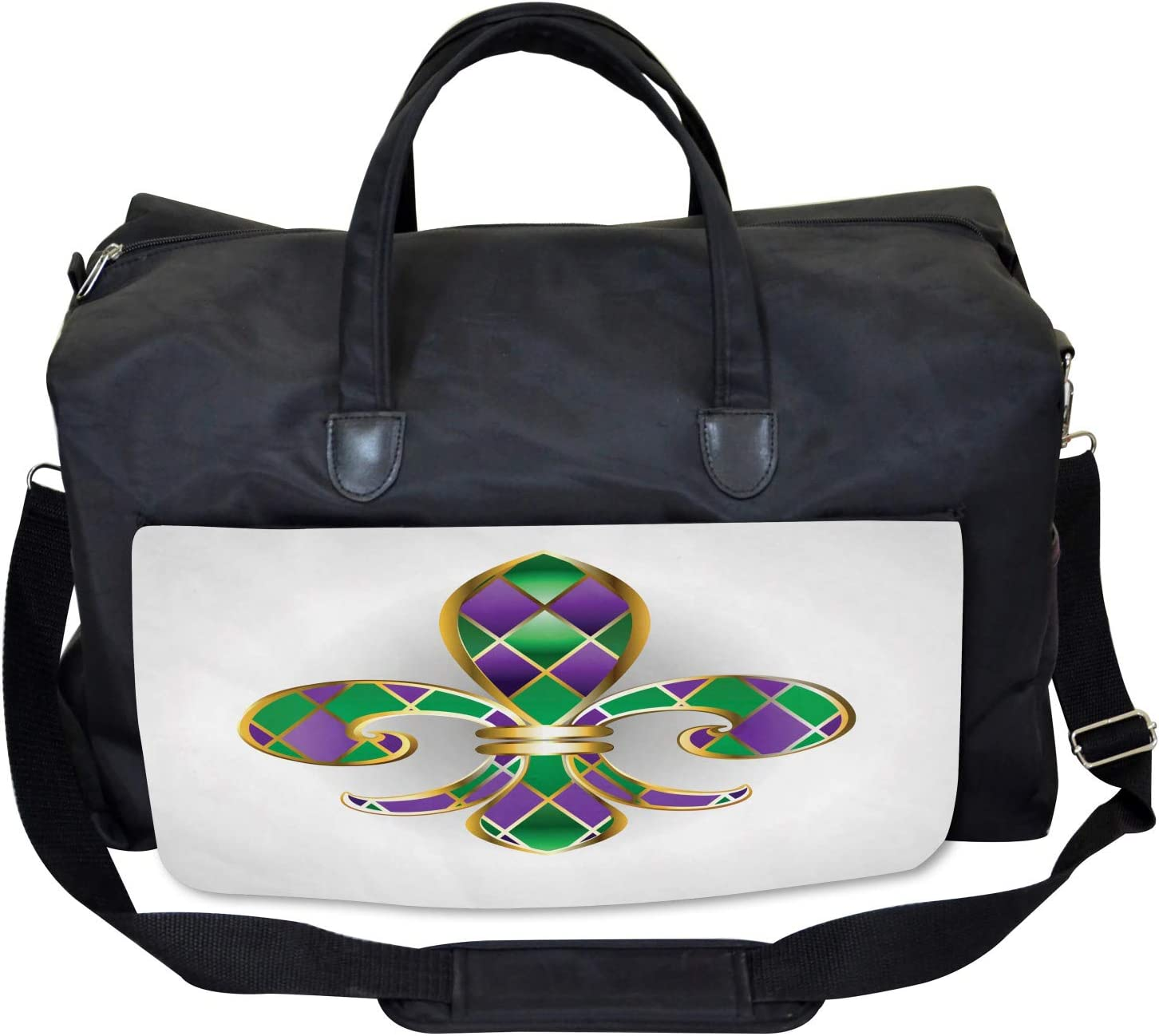 Lily Symbol Royalty Large Weekender Carry-on Ambesonne Ancient Gym Bag