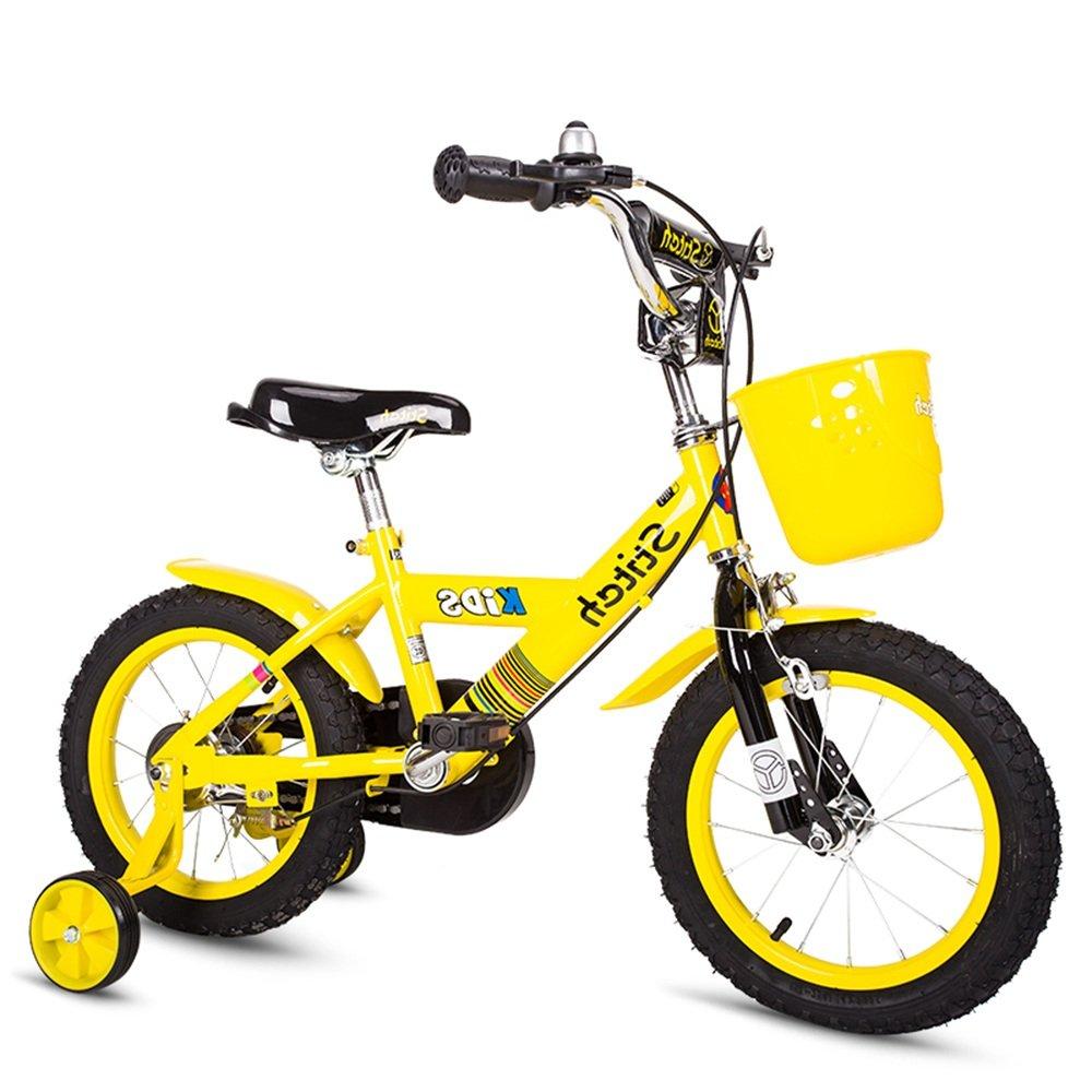 PJ 自転車 子供用自転車 トレーニングホイール付きの少年の自転車と少女の自転車 12インチ、14インチ、16インチ 子供用ギフト 子供と幼児に適しています ( 色 : イエロー いえろ゜ , サイズ さいず : 14 inches ) B07CQSYL4G 14 inches|イエロー いえろ゜ イエロー いえろ゜ 14 inches
