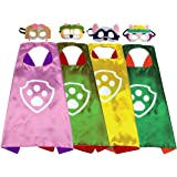 Yalla Baby Superhero Animal Cartoon Costume Cape and Felt Mask Dress Up for Kids Boys & Girls 3-12 Years