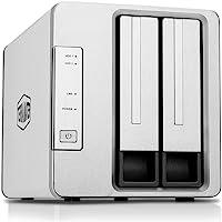 TerraMaster NAS 2 Baies F2-210 Quatre cœurs, transcodage 4K, Serveur multimédia et Stockage Personnel sur Le Cloud (sans Disque)