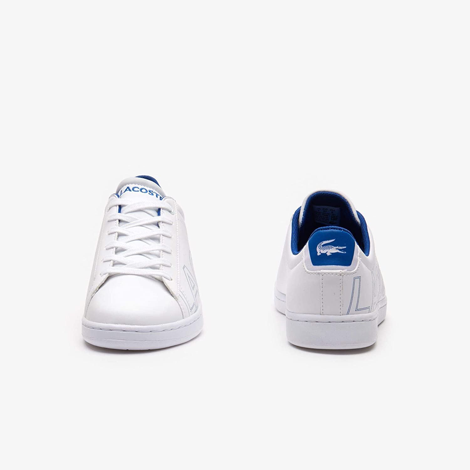Lacoste Carnaby Evo 219 1 White//Blue Synthetic Infant Trainers Shoes