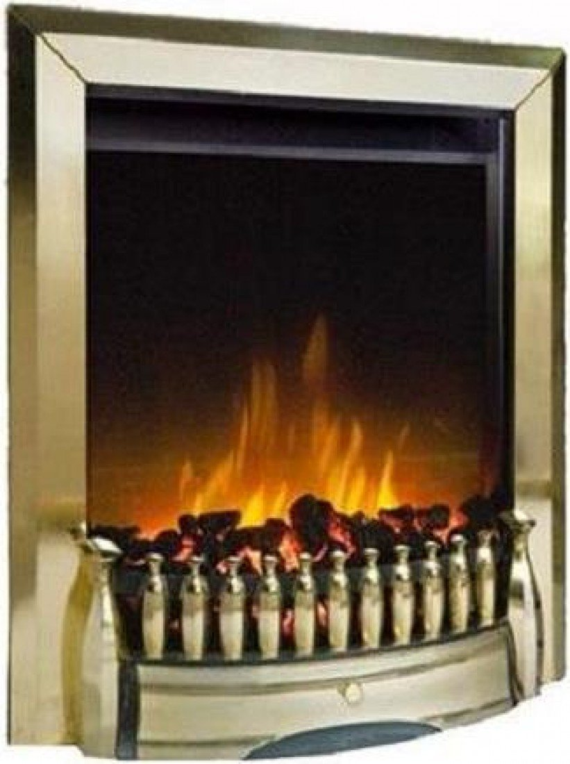 dimplex exbury brass optiflame freestanding or inset electric fire