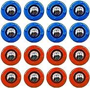 KETIEE Mini Shuffleboard Pucks Equipment Rollers Set 16PCS Shuffleboard Curling Accessories Free Sliding Bead