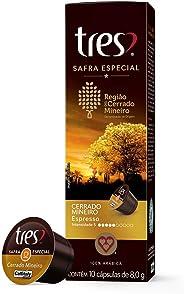 Cápsulas de Café Espresso Safra Especial Cerrado Mineiro Três, Compatível com Três, Contém 10 Cápsulas