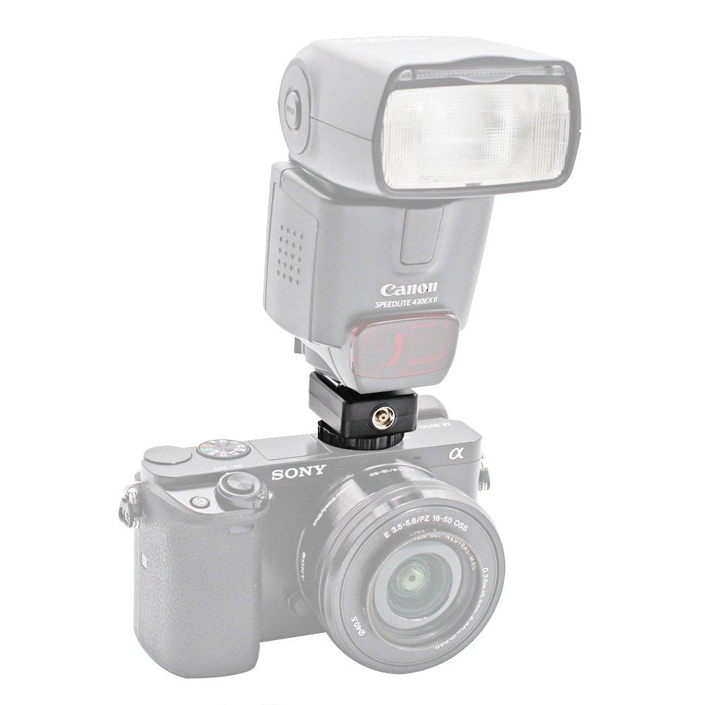 Foto&Tech Flash Hot Shoe Adapter Converts Sony a7III/a9/a99 II/a7R II/a7 II/a7/a7R/a7S II/a7S/a6500/a6300/a6000 to Canon Speedlite 90EX/270EX/270EX II/320EX/380EX/430EX II/550EX/580EX II/600EX-RT 4332158028