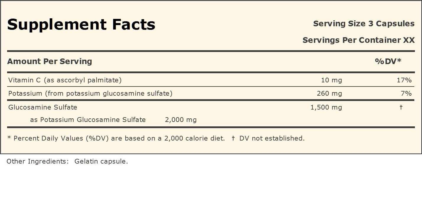 Glucosamine Sulfate-1500