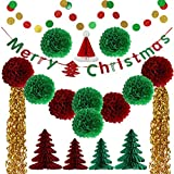 JOY Christmas decorations, Paper decorations, Paper crafts, Paper tassels,Balloons, Paper balls (Christmas tree)