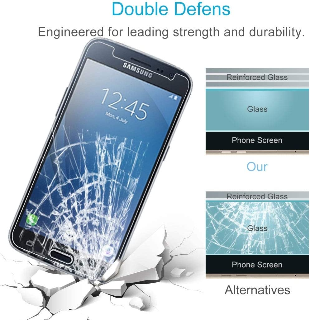 Screen Protector Film LGYD 100 PCS 9H 2.5D Tempered Glass Film for Galaxy J2 2016