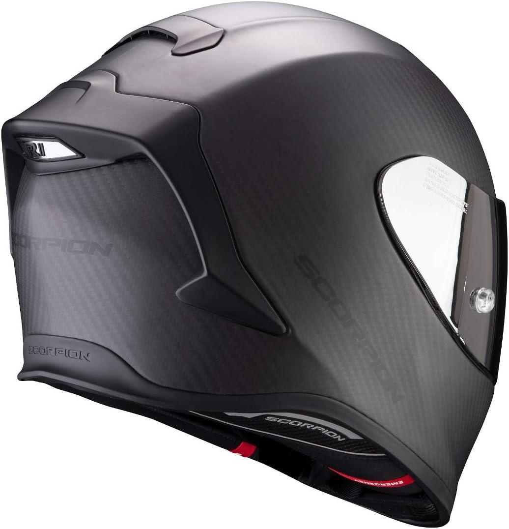 Negro XS Scorpion Casco de moto EXO-R1 CARBON AIR Matt Black