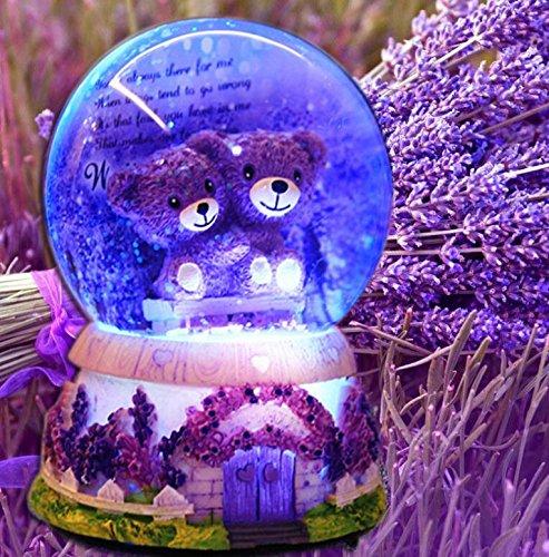 Udane Kreatives Feiertags-Geburtstags Crystal Ball Spieluhr-Cute Bear in der Crystal Ball