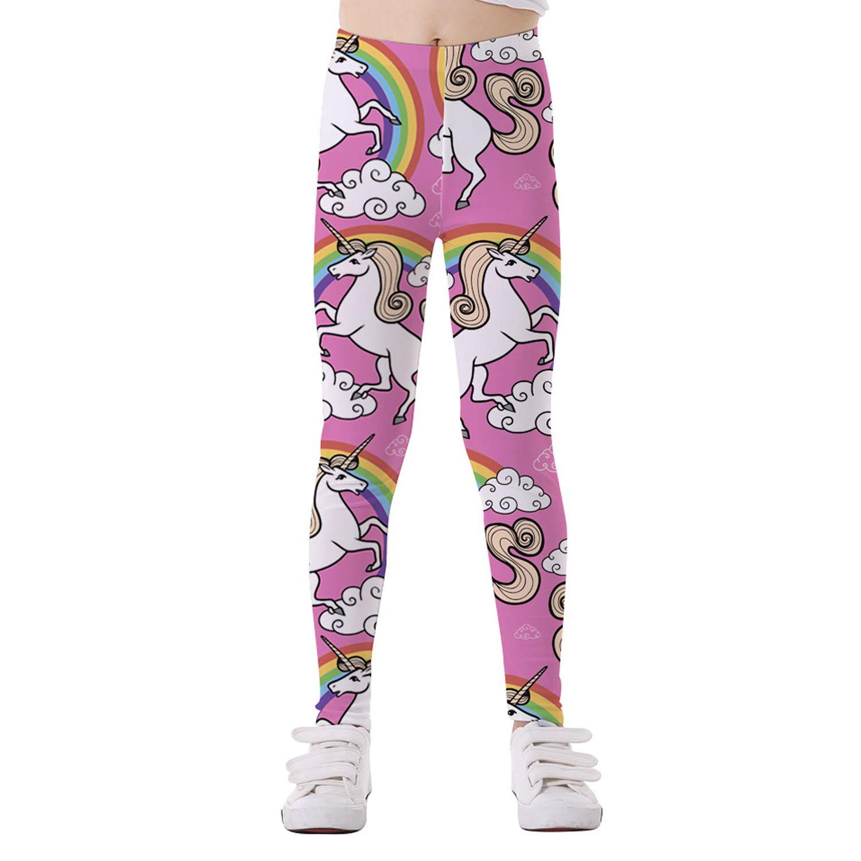 5e0b63fdd3acc Amazon.com: Eichzhushp Little Girls Unicorn Leggings, Tights Gymnastics  Athletic Full Length Toddler Pants Blue Unicorn: Clothing
