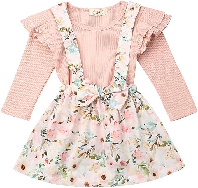 Conjunto de Ropa para niñas pequeñas Camiseta con Hombros ...
