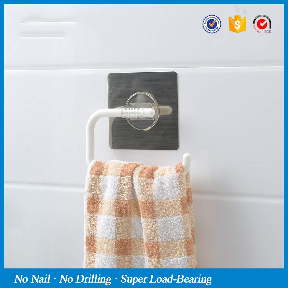 LOVELY Magic Sticker Wall Mounted Toilet Paper Holder Kitchen Bathroom Accessories Towel Rack Roll Paper Holder