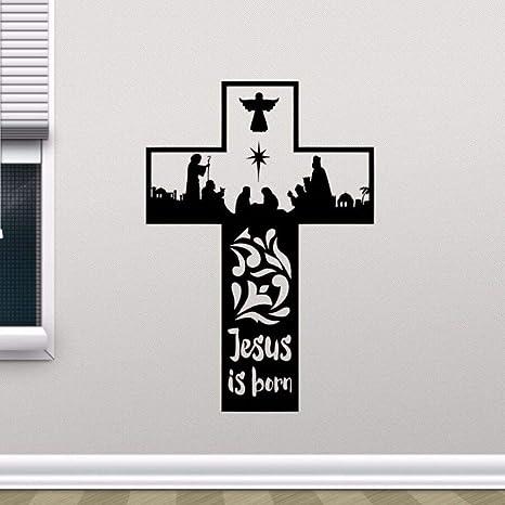WWYJN Religion Vinyl Wall Sticker Removable Jesus Christ Is ...