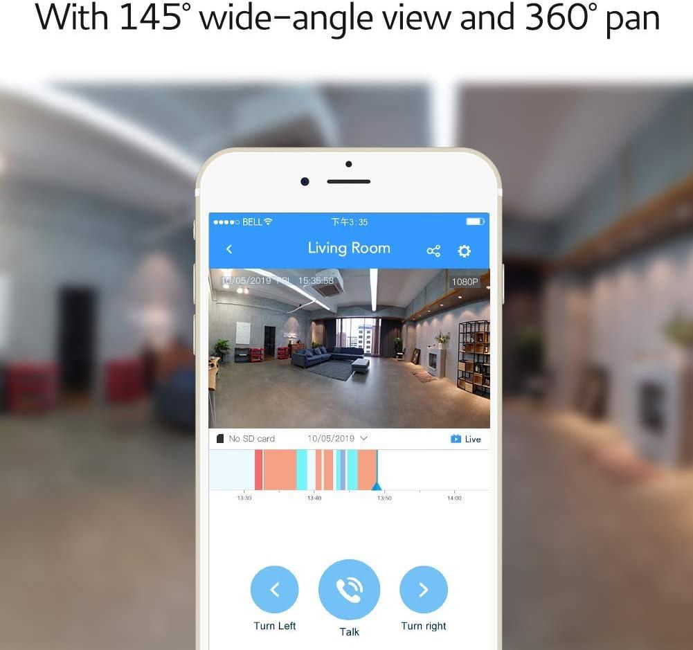 Bosma Überwachungskamera, 1080p, Full HD, IP Überwachungssystem mit Nachtsicht, Zwei Wege Audio und Sirenenenalarm, Tür Fenster Sensor und