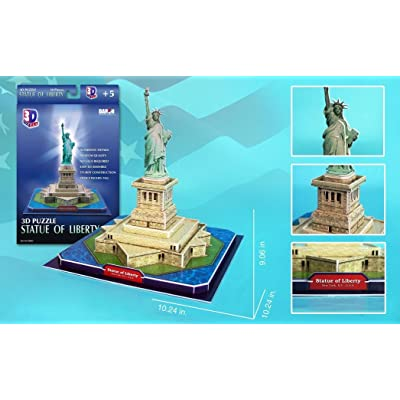 Daron Statue of Liberty 3D Puzzle, 39-Piece: Toys & Games