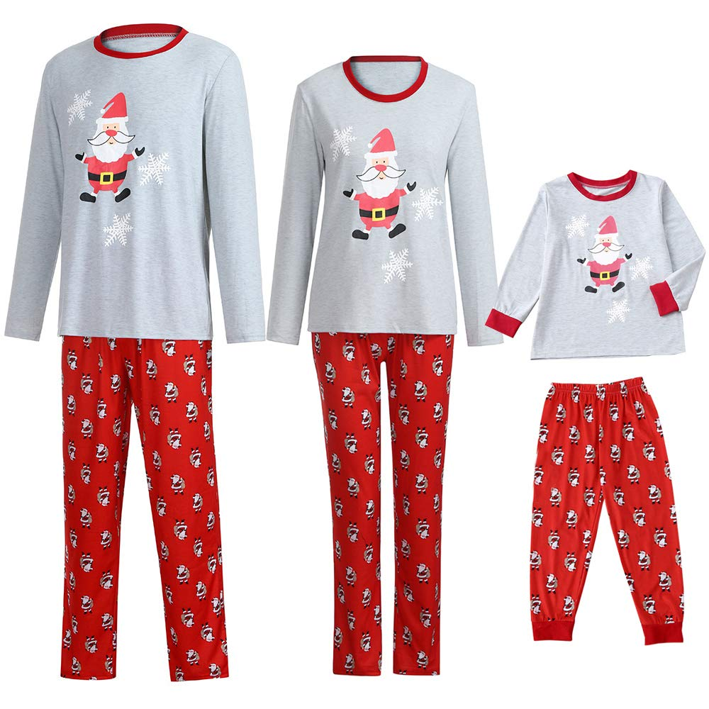 Matching Family Pajamas PJS Sets Christmas Sleepwear Snowflake Santa Homewear Nightwear Kids Boys Girl Pajama Set Outfit by Steagoner Pajamas Sets (Image #1)
