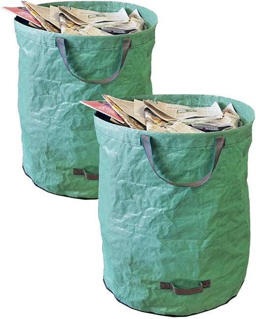 TerCasa Bolsas de Basura de jardín 272 L, Verde, 272 L: Amazon.es: Jardín