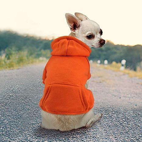 Chaqueta Sudadera con Capucha para Perros peque/ños Chihuahua Chaqueta Zunea Chaqueta