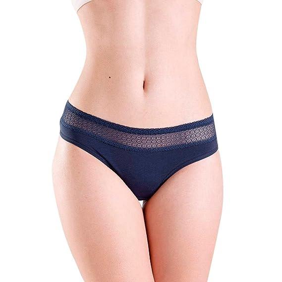 STRIR-Ropa Interior de Algodón Mujer Bragas Hipster Cómodo Transpirables Briefs Suave Slip Femenina, Tamaño Libre (Azul Marino): Amazon.es: Ropa y ...
