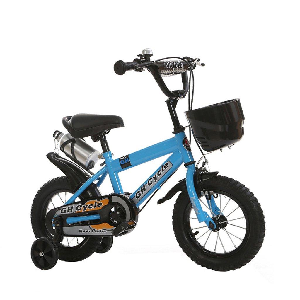 子供の自転車6-9歳の子供の自転車高炭素スチールの赤ちゃんキャリッジ18インチの男性と女性の自転車、白/青/黄 (Color : Blue) B07CWNJLBT