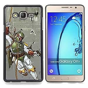 """Qstar Arte & diseño plástico duro Fundas Cover Cubre Hard Case Cover para Samsung Galaxy On7 O7 (Boba Fett - Hunter"""")"""