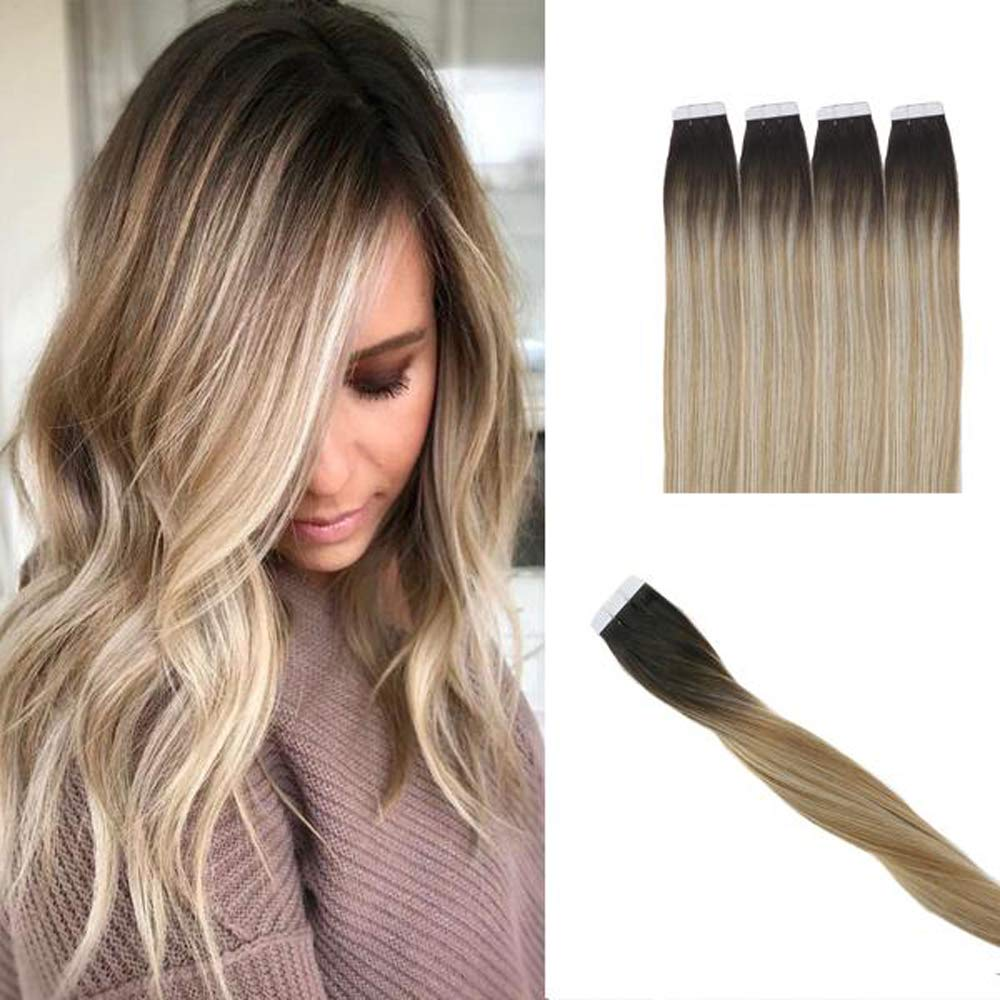 HairDancing Ranking TOP2 18 inch Tape in Human Selling rankings #1B Head Hair Full Extensions