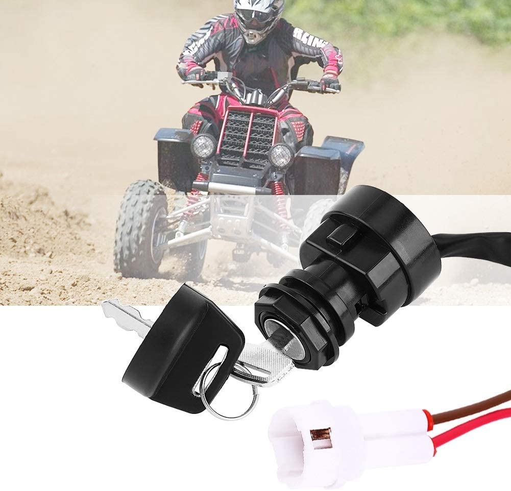 Assemblage de commutateur dallumage Moto 2 VTT ATV ​​Cl/é de contact for YFM 350 Bruin 660R 700R Raptor 350X Warrior
