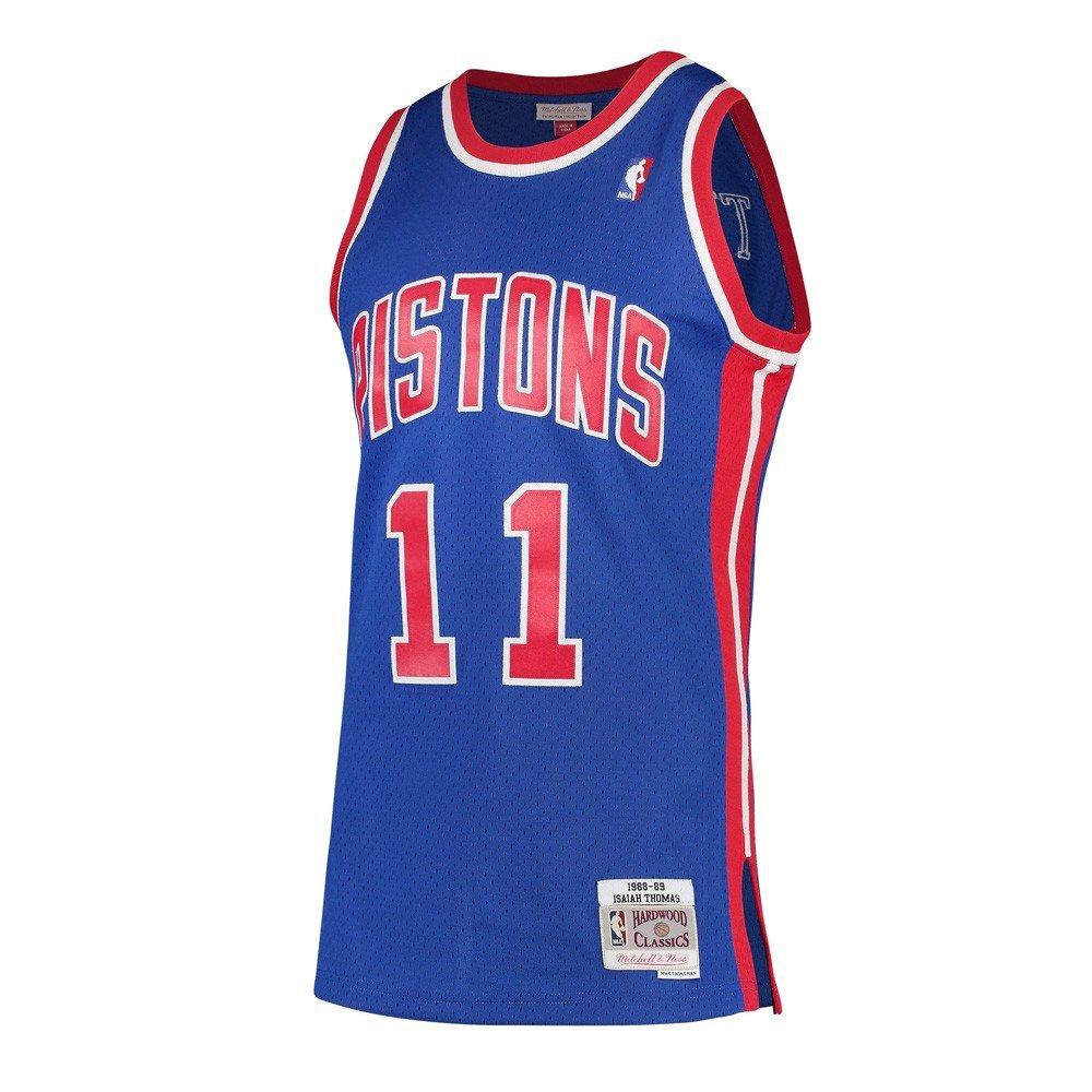 8b19bef471bc Amazon.com   Mitchell   Ness Isiah Thomas Detroit Pistons 1988-89 Hardwood  Classics Swingman Jersey   Sports   Outdoors