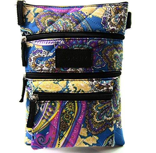 Quality Women Blue Cross Light Paisley Sleeve Handbag Quilted Tablet Body Support RAqxFawA