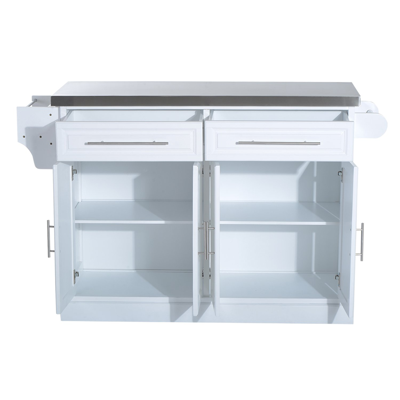 Amazon.com - HomCom Modern Rolling Kitchen Island Storage Cart w ...