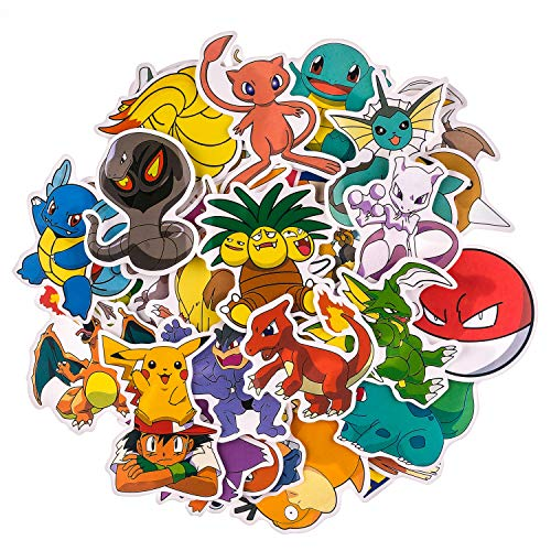 Cartoon Stickers[100pcs], Vinyl Sticker for Laptop Water Bottle Guitar Bike Car Motorcycle Bumper Luggage Skateboard Graffiti, Cute Animals Monsters Decals, Best Gift for Kids,Children,Teen